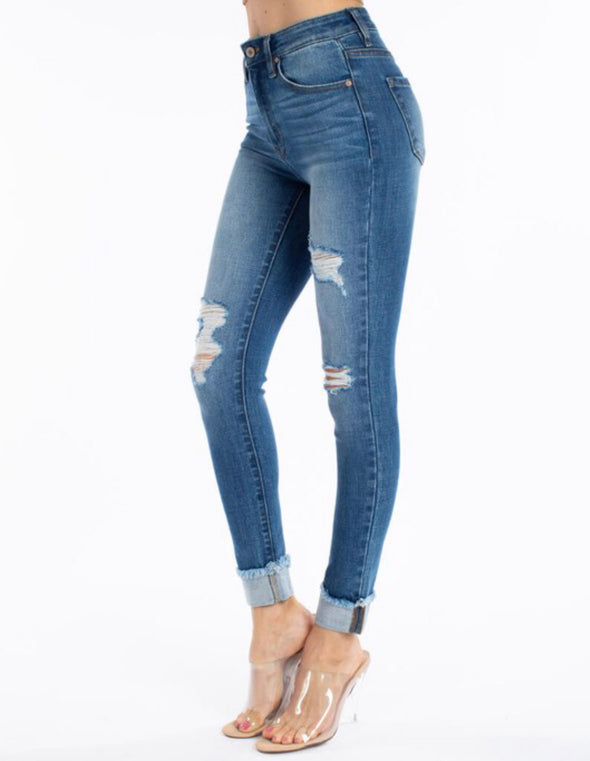 KanCan Ankle Fold Jeans Size Up One Size
