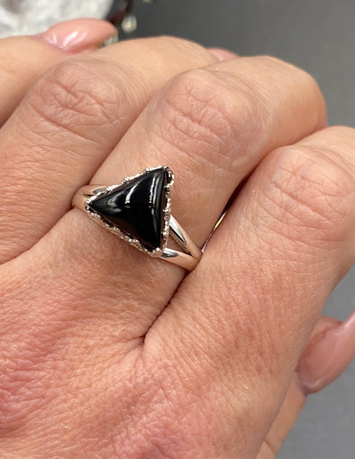 Sterling Silver Trillion Stone Ring
