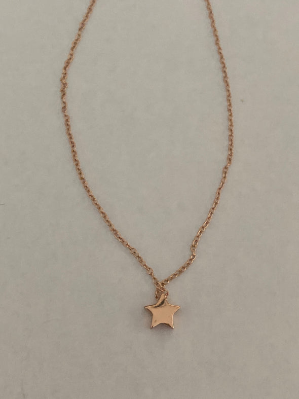 Sterling Silver Rose Star Necklace