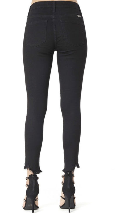 KanCan Skinny Black Frey Bottom