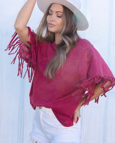 Fantastic Fawn Fringe Laser Cut Top