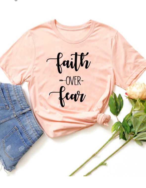 Faith Over Fear Bella Canvas Tee