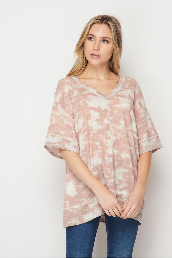 Honeyme Mocha Wash Top