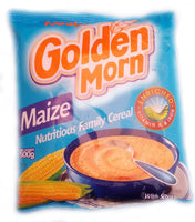 Golden Morn Maize Cereal by Nestle.