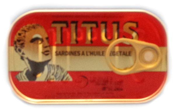 Titus (Sardines in vegetable oil Reg and Hot) by unimer group