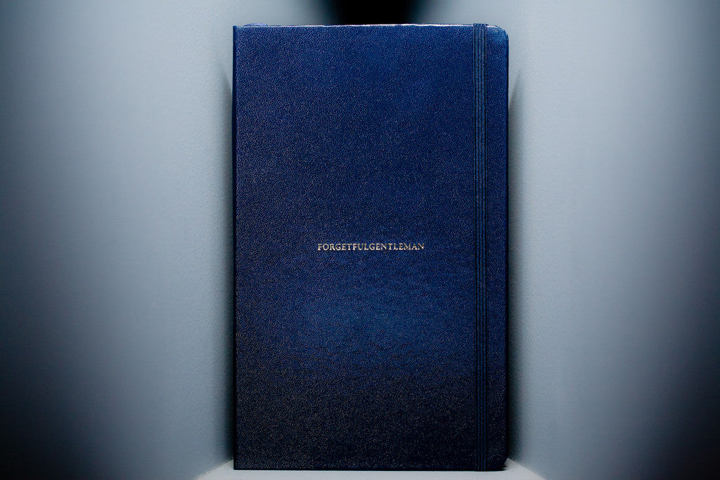 Blue Cover Cookbook : Hardcover blue notebook forgetful gentleman custom