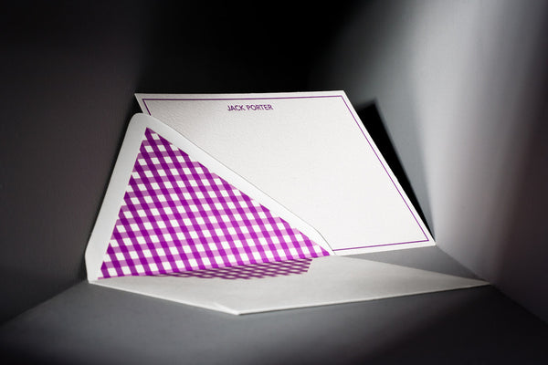 Bespoke Stationery - Gingham