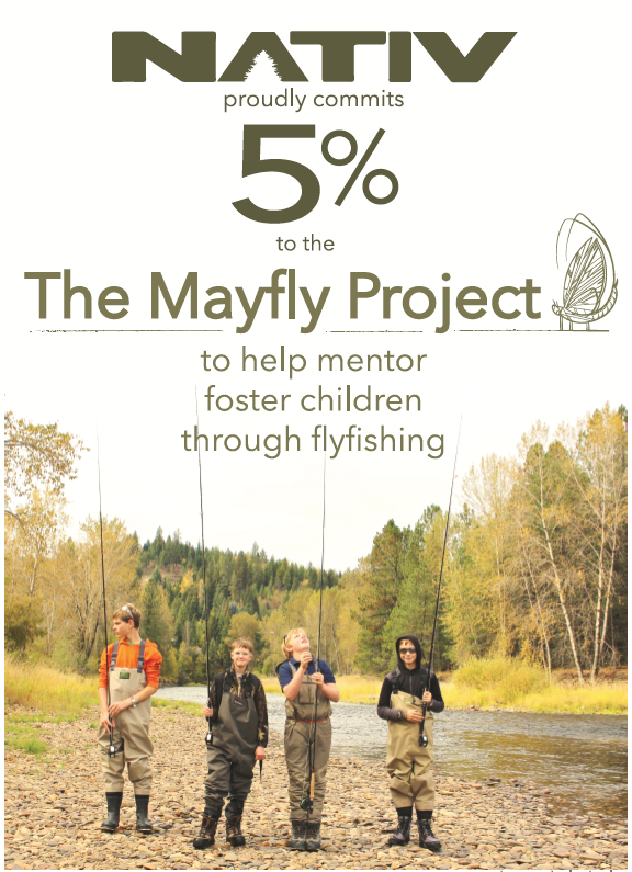 nativ gives to the mayfly project