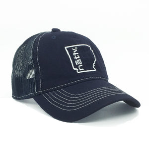 arkansas nativ navy/navy trucker