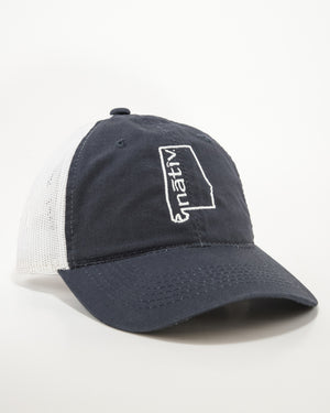 alabama vintage navy trucker