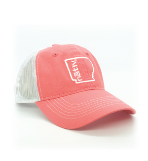 arkansas nativ light coral trucker