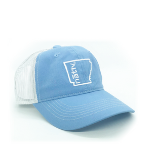 arkansas nativ sky blue trucker