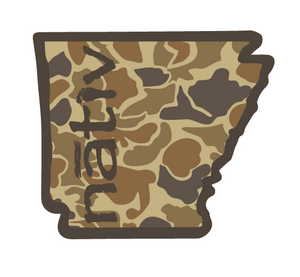 arkansas nativ sticker - camo