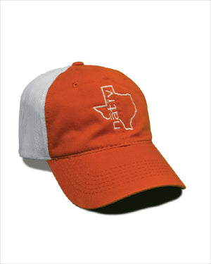 texas burnt orange trucker