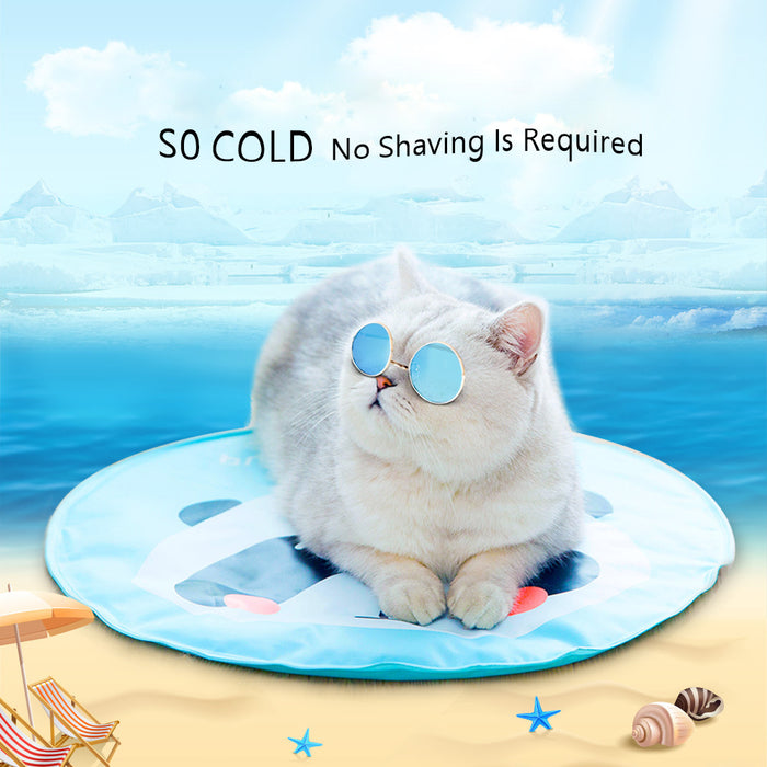Liquid gel ice cat pad