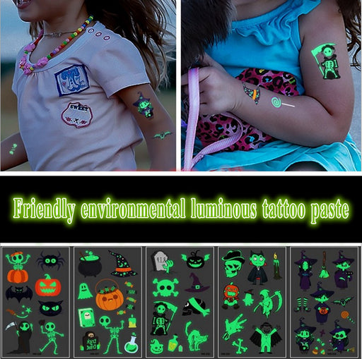 11PCS Halloween cute luminous tattoo stick