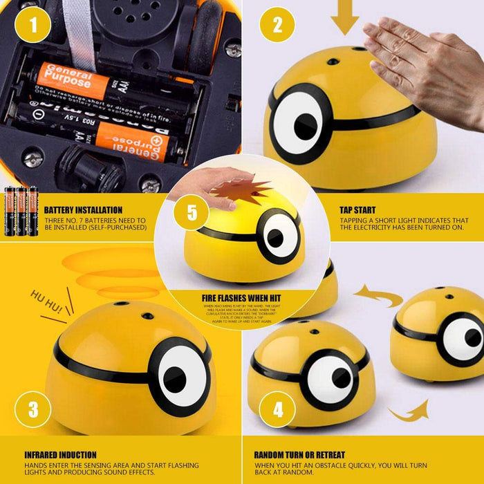 Smart and cute out of control little yellow guy toy