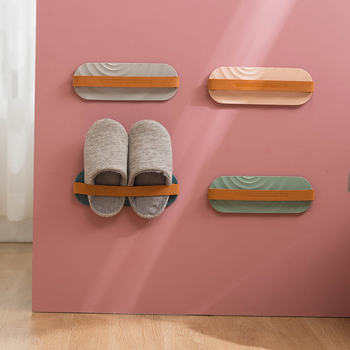 Bathroom wall hanging shoe rack
