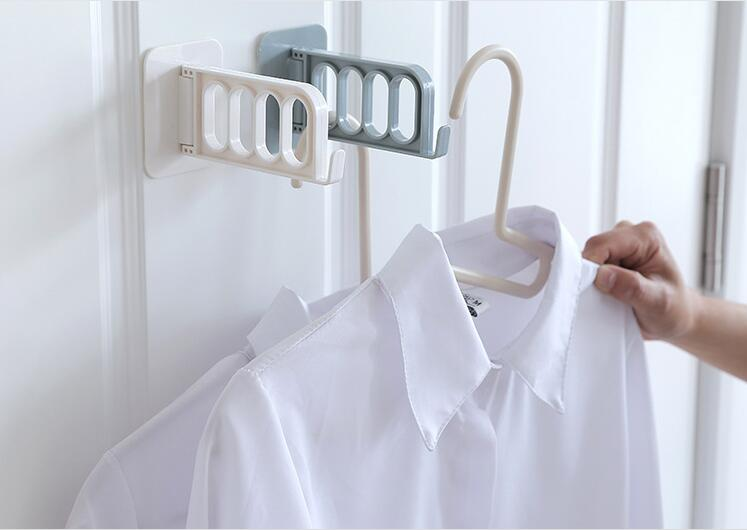 Wall-mounted clothes storage rack 2PCS