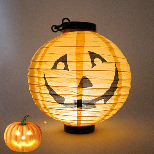 4-color foldable LED paper pumpkin light