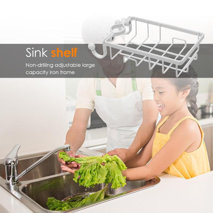 Stainless steel faucet storage rack