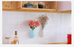 Silicone wall sticker vase A