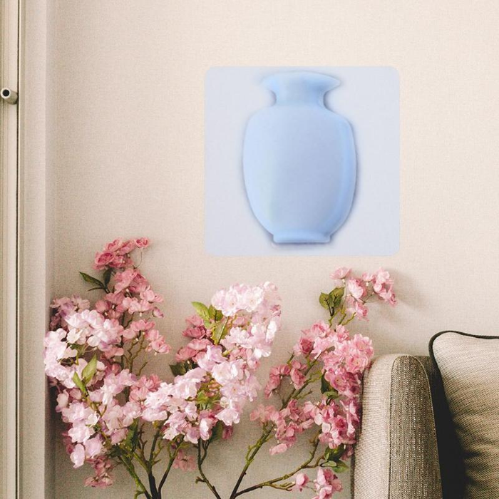 Silicone wall sticker vase B