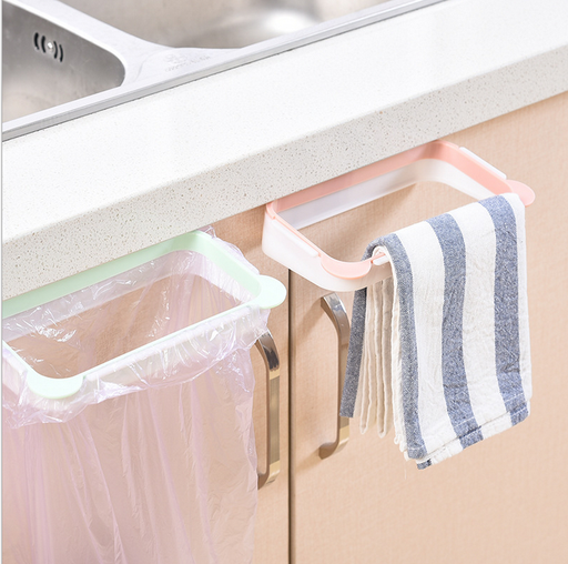 2P Household cabinet door rag hanging rack garbage rack