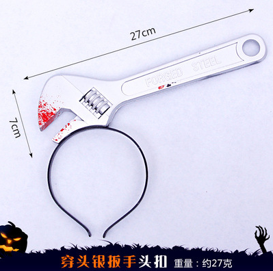Halloween headband decorative simulation weapon