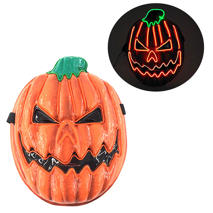 LED Halloween Pumpkin Mask