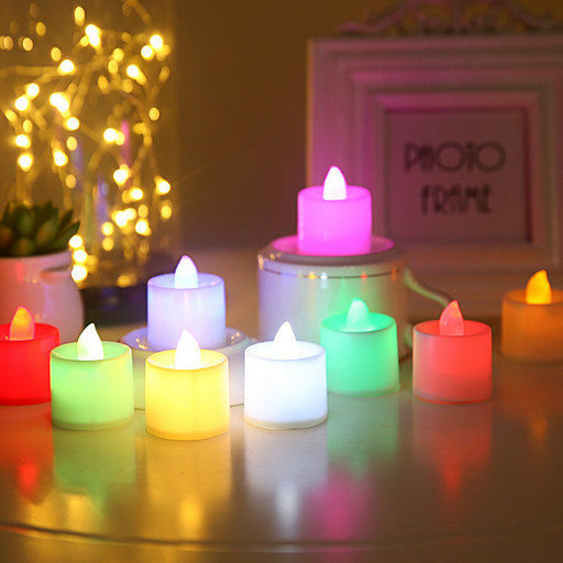 ED electronic waterproof color candle