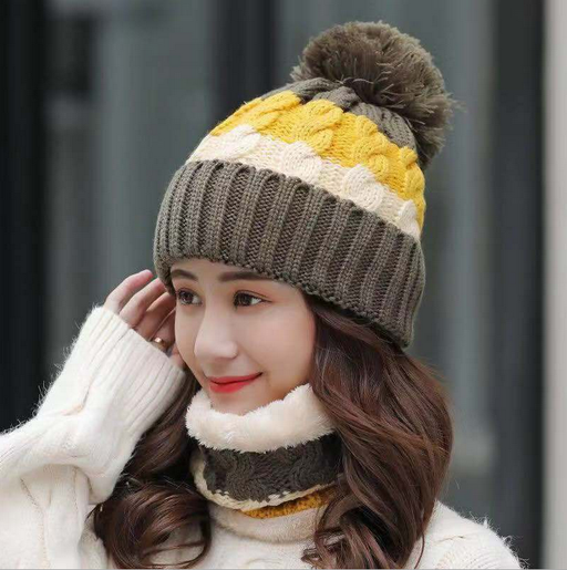 3 color winter new ladies velvet wool hat