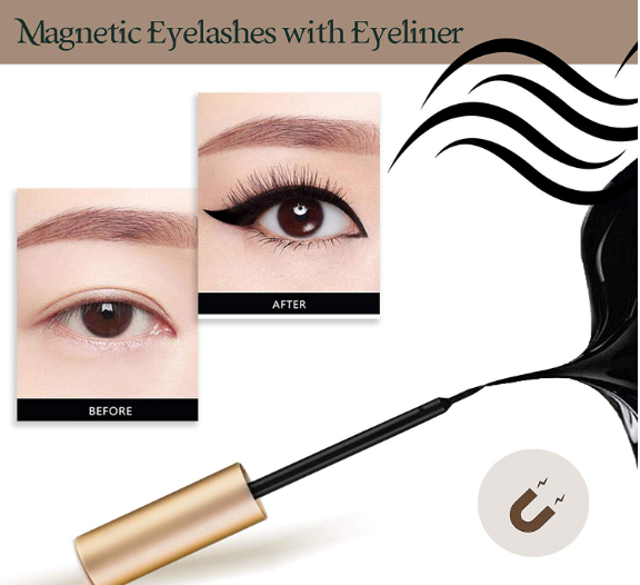 Magnetic Eyeliner and Lashes Kit With Reusable Lashes [3 Pairs]