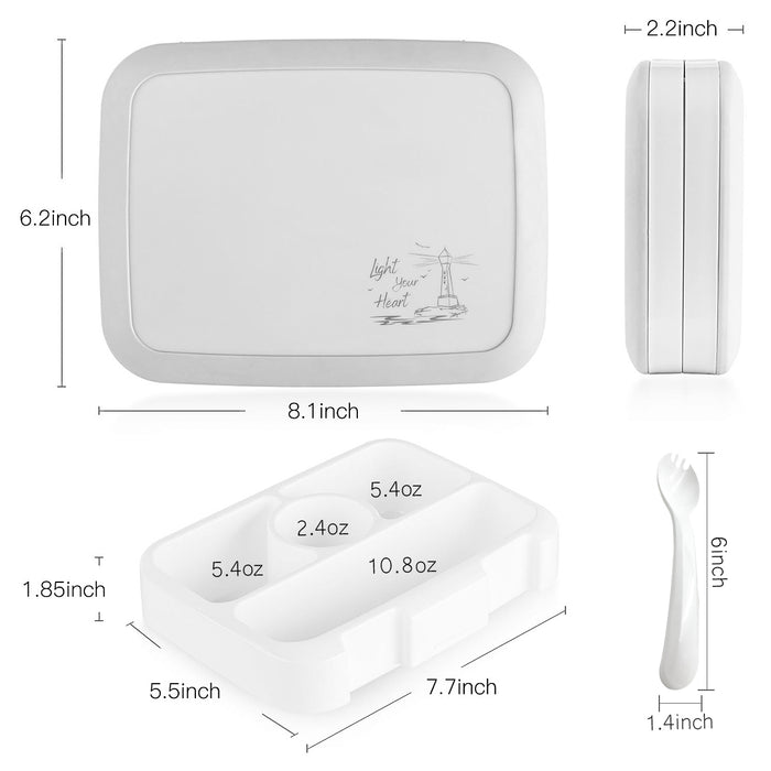 OKBONN children's lunch box-leak-proof, suitable for children from 3 to 7 years old, without BPA