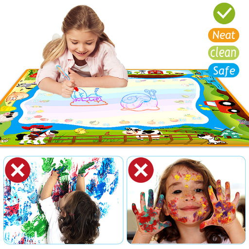 OKBONN water painting mat, painting set with non-toxic water pen (40×40 inches)