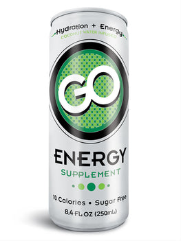 GO Energy - (Qty: 48 cans, 12 oz) - FREE SHIPPING