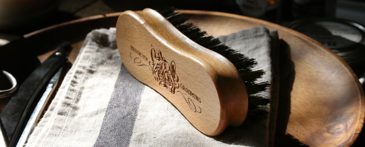 Boars hair brush, beard brush