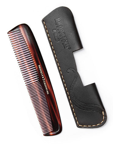 Leather Pocket Comb Sleeve - Brooklyn Grooming