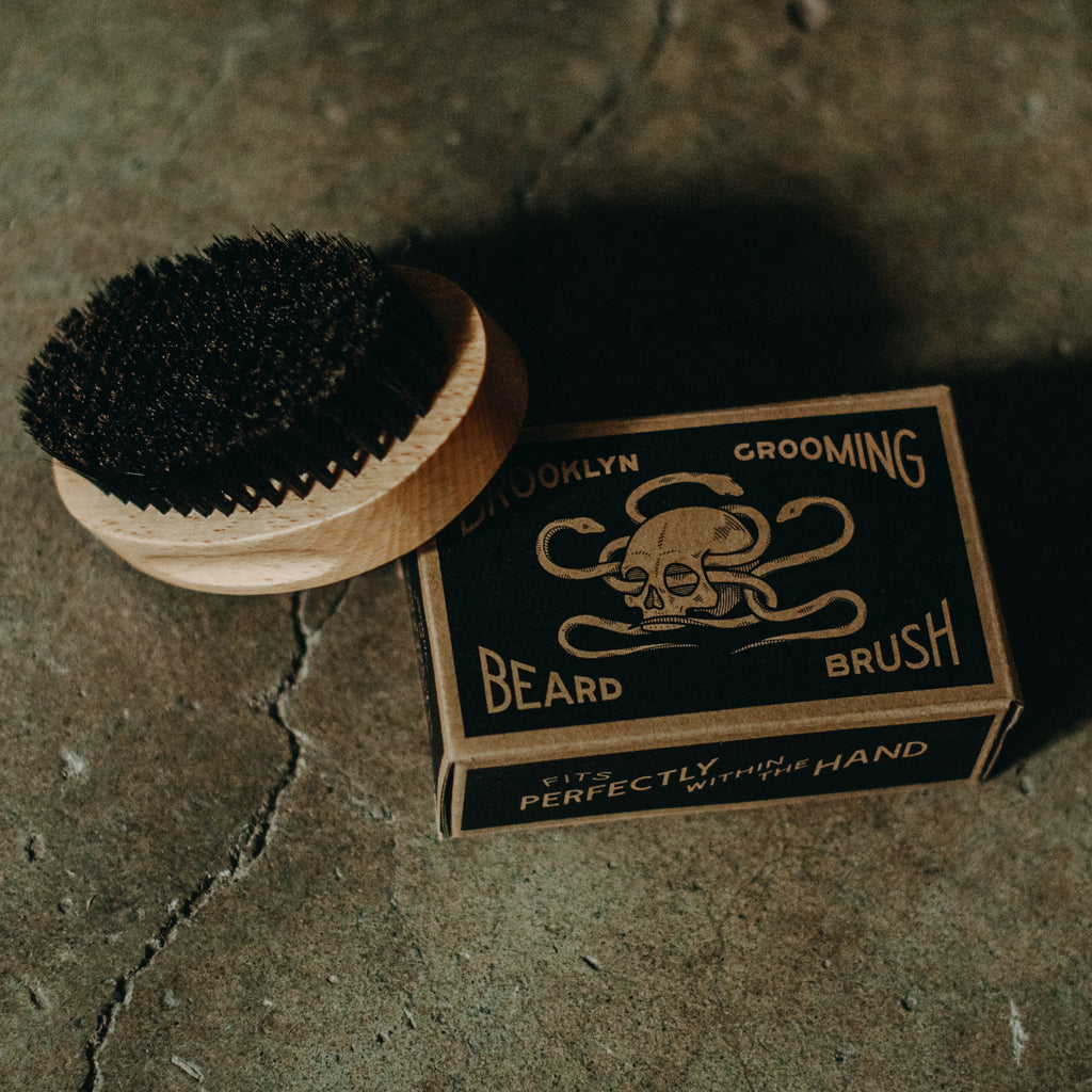 Beechwood and Boar Bristle Beard Brush - Brooklyn Grooming