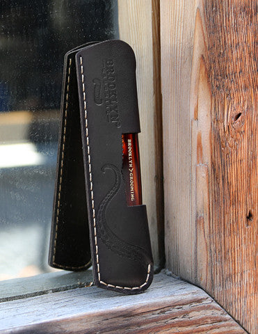 Leather sleeve for pocket comb