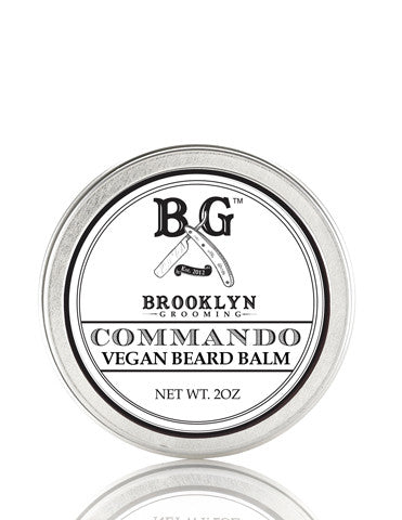 Vegan Classic Beard Balm - Commando 2 oz. - Brooklyn Grooming