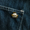 Skull and Snake Enamel Pin - Brooklyn Grooming