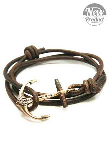Wood Beam Anchor Bracelet Antique Brown - Brooklyn Grooming