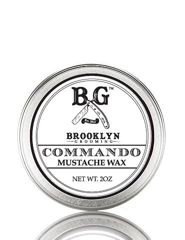 Commando Mustache Wax 2 oz. - Brooklyn Grooming