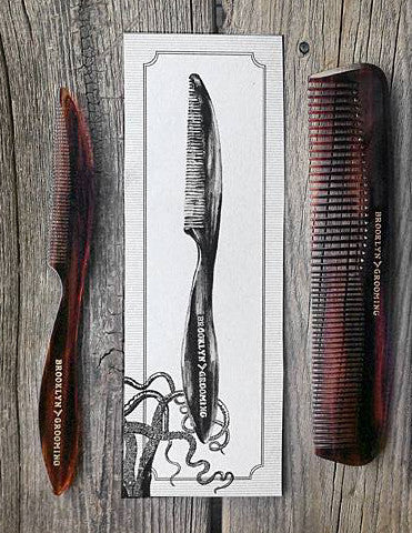 Men's Handmade Mustache-Beard Comb by Brooklyn Grooming - Brooklyn Grooming
