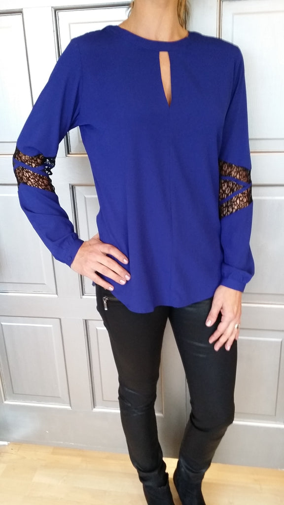 Long Sleeve Cobalt Blue blouse