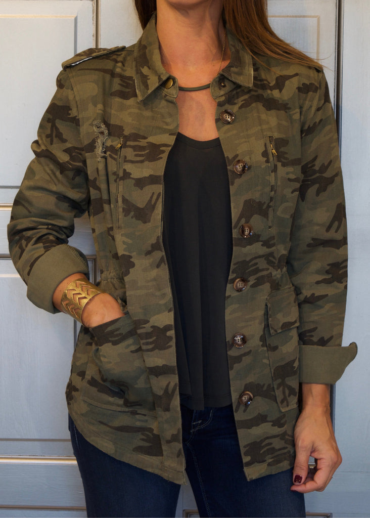 Destructed Camo Jacket