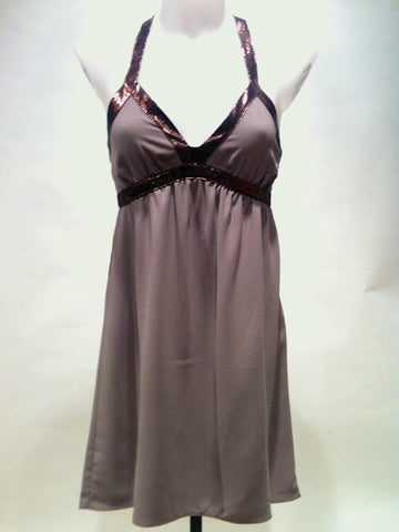 Womens copper trim racer back dress