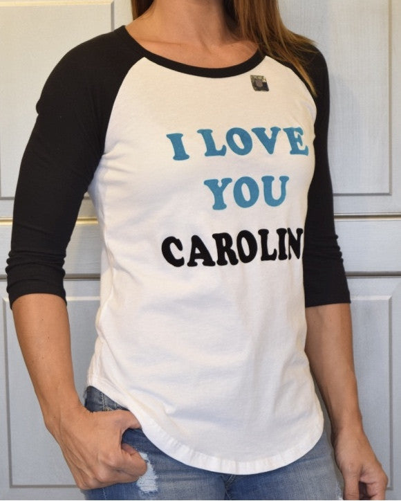 Women's Carolina Panthers Raglan Tee