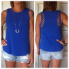 Sleeveless Top with Cutout Back Detail